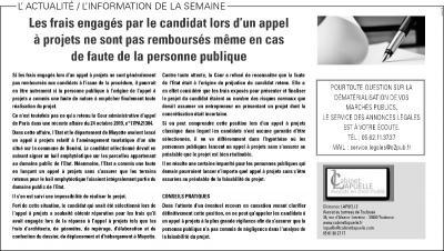 La Dépêche du Midi du 12 décembre 2019, rubrique Annonces légales / Marchés publics