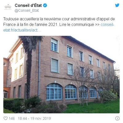 La neuvième cour administrative d'appel à Toulouse